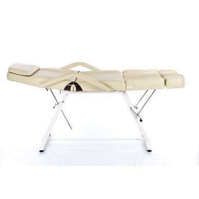 Kosmetologinis krėslas su atskiromis kojų dalimis (kreminis) 4