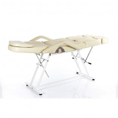 Kosmetologinis krėslas su atskirai reguliuojamomis kojų dalimis  (kreminis) 5