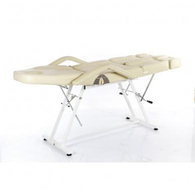 Kosmetologinis krėslas su atskiromis kojų dalimis (kreminis) 6