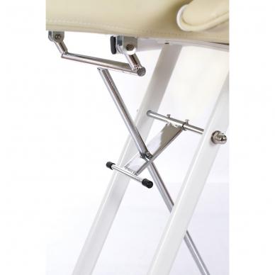 Kosmetologinis krėslas su atskirai reguliuojamomis kojų dalimis  (kreminis) 8