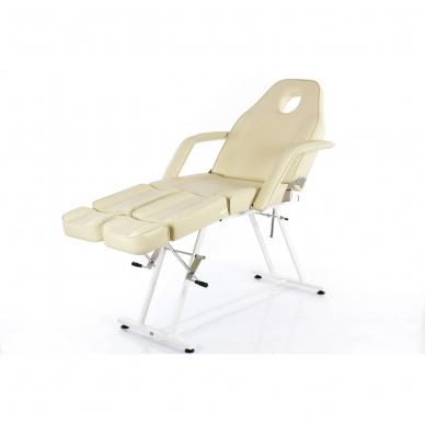 Kosmetologinis krėslas su atskirai reguliuojamomis kojų dalimis  (kreminis) 10
