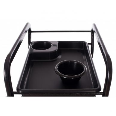 Kosmetologinis vežimėlis su laikikliais (5 stalčių) 6