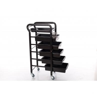 Kosmetologinis vežimėlis su laikikliais (5 stalčių) 2