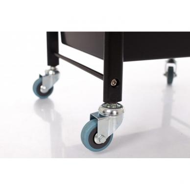 Kosmetologinis vežimėlis su laikikliais (5 stalčių) 7