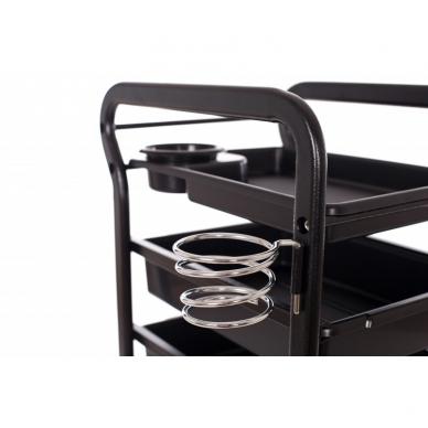 Kosmetologinis vežimėlis su laikikliais (5 stalčių) 4