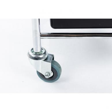 Kosmetologinis vežimėlis - kėdutė (3 stalčiai + lentynėlė ant laikiklio) 8