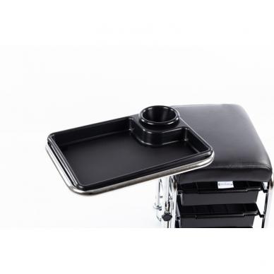 Kosmetologinis vežimėlis - kėdutė (3 stalčiai + lentynėlė ant laikiklio) 4