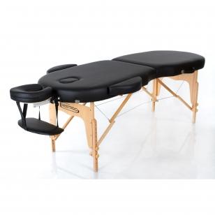 Sulankstomas masažo stalas Vip Oval 2 (Black)