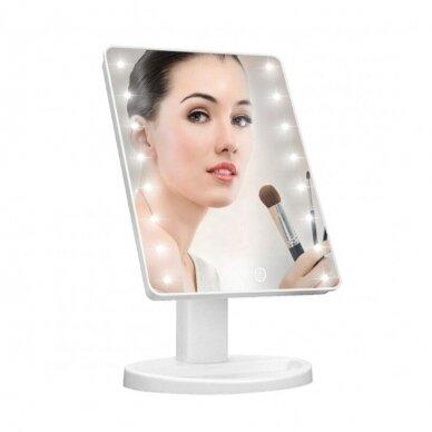 Makiažo veidrodis su LED apšvietimu DESK WHITE (1) 2