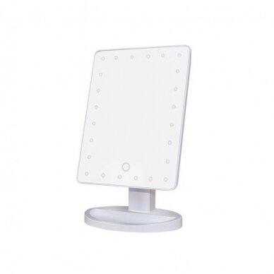 Makiažo veidrodis su LED apšvietimu DESK WHITE (1)