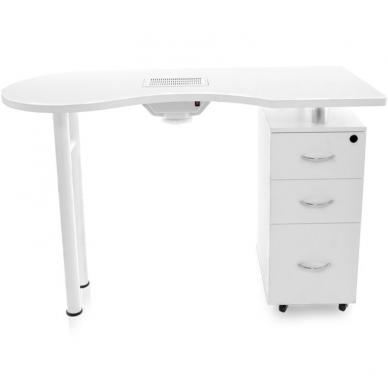 Manikiūro stalas su dulkių surinkėju DESK WHITE