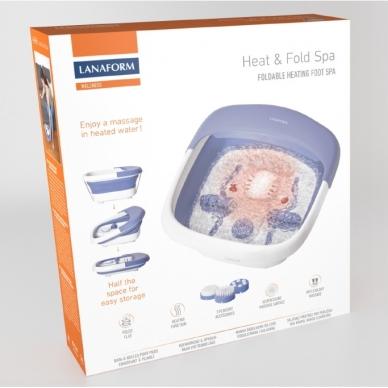 Masažinė pėdų vonelė Lanaform Heat & Fold Spa 10
