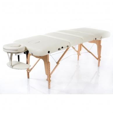 Sulankstomas masažo stalas Vip 4 (Cream) 2