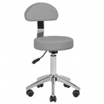 Meistara krēsls STOOL BEAUTY BACKREST ROUND GRAY