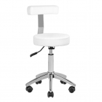 Meistara krēsls STOOL BEAUTY BACKREST WHITE