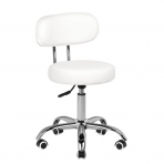 Meistara krēsls BEAUTY STOOL WHITE HYDRAULIC