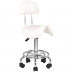 Meistara krēsls STOOL BEAUTY 3 WHITE
