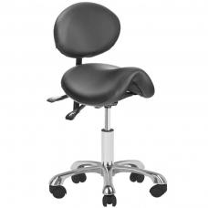 Meistara krēsls COSMETIC STOOL GIOVANNI BLACK
