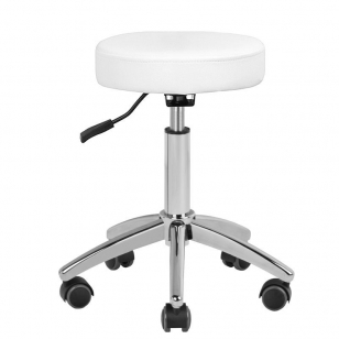 Meistara krēsls BEAUTY STOOL BASIC WHITE