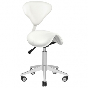 Meistro kėdutė AZZURRO BEAUTY 2 WHITE