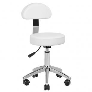 Meistro kėdutė STOOL BEAUTY BACKREST PEDICURE BASIC WHITE