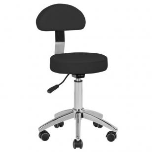 Meistara krēsls STOOL BEAUTY BACKREST ROUND BLACK