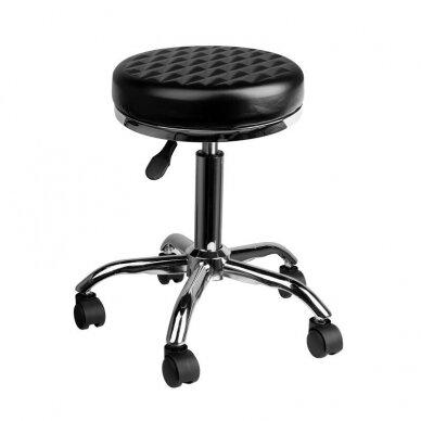 Meistara krēsls BEAUTY DIAMOND BLACK