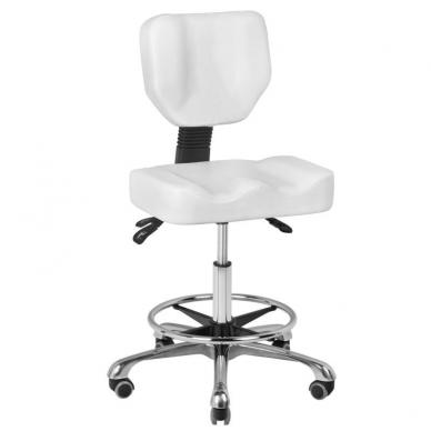 Meistara krēsls BEAUTY STOOL COMFORT WHITE