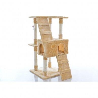 Kačių namelis - draskyklė 180cm BEIGE 3