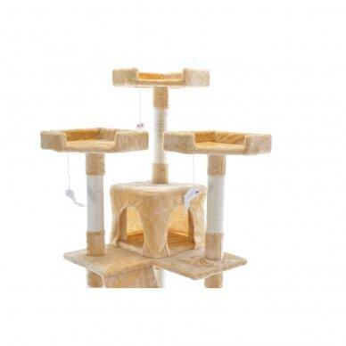 Kaķu māja - nagu asināmais 180cm BEIGE 2