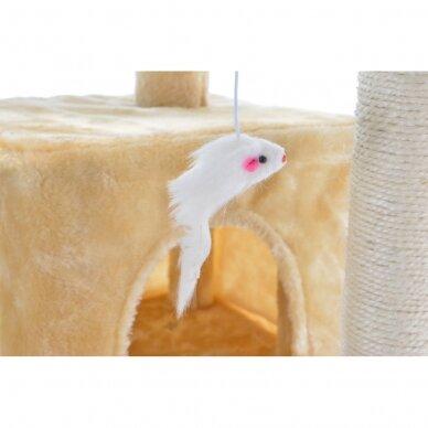 Kačių namelis - draskyklė 180cm BEIGE 7