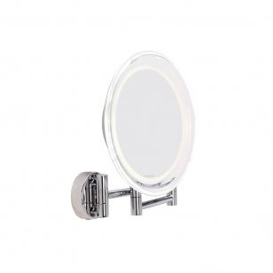 Suurendav peegel Lanaform kokkukäivate raamidega ja LED lambiga, 10-kordse suurendusega