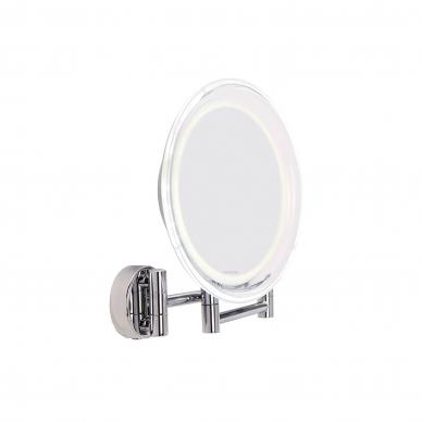 Vaizdą didinantis veidrodis (X10) su LED apšvietimu