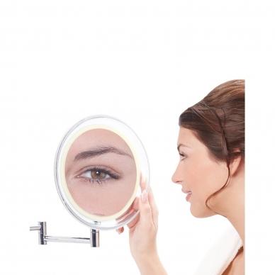 Vaizdą didinantis veidrodis (X10) su LED apšvietimu 3