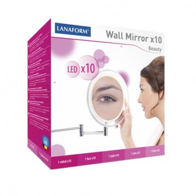 Palielināmais spogulis Lanaform ar saliekamo rāmi un LED apgaismojumu (x10) 4