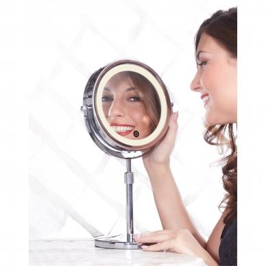 Vaizdą didinantis veidrodis (X1 / X10) su apšvietimu 2