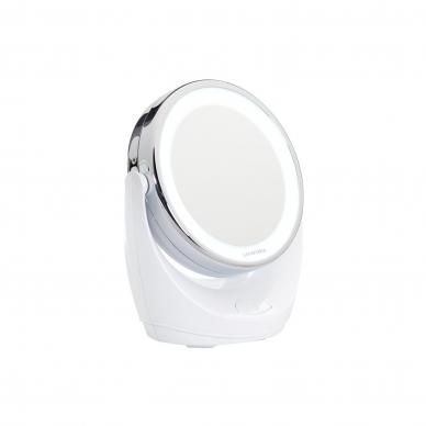 Vaizdą didinantis makiažo veidrodis (X1/X10) su LED apšvietimu