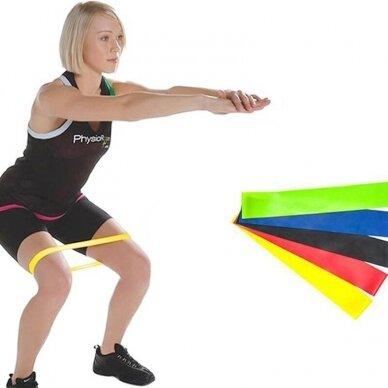 Pasipriešinimo gumų fitnesui ir mankštai rinkinys LATEX SET, 5 vnt. 2
