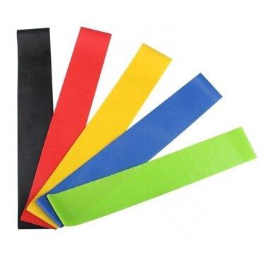 Pasipriešinimo gumų fitnesui ir mankštai rinkinys LATEX SET, 5 vnt. 4