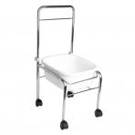 Pedikiūro vonelės vežimėlis SHOWER FOR PEDICURE CHROME