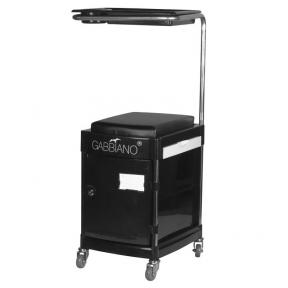 Pedikiūro vežimėlis - kėdutė HELPER PEDICURE STOOL BLACK