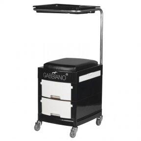 Педикюрный стульчик HELPER PEDICURE STOOL BLACK/WHITE (1)