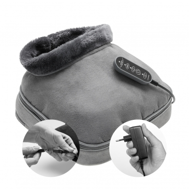 Apkures un masāžas spilventiņš Lanaform 2-in-1 Shiatsu Comfort 11