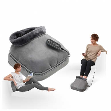 Pėdų masažuoklis-šildyklė Lanaform 2-in-1 Shiatsu Comfort 9