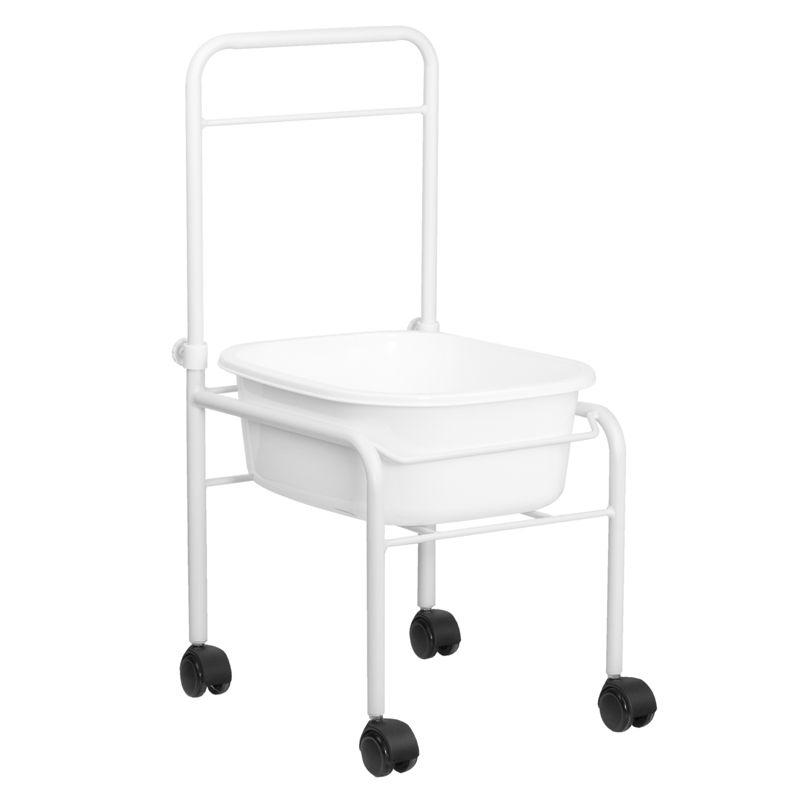 Pedikiūro vonelės vežimėlis SHOWER FOR PEDICURE WHITE