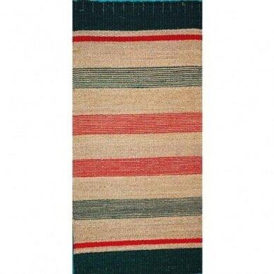 Pintas kilimėlis iš jūros žolės NOVA BARS (80 x 160cm)