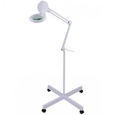 Kosmetologinė LED lempa su lupa 14W (pastatoma ant grindų)