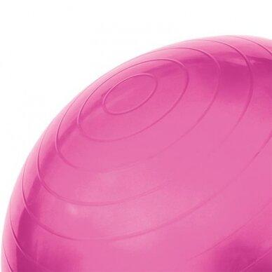 Vingrošanas bumba ar sūkni 75cm, rozā 3