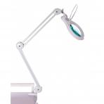 Prie stalo tvirtinamas LED šviestuvas su lupa 14W