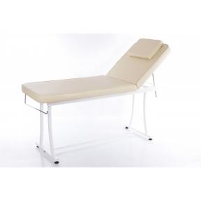 Stacionarus masažo stalas plieniniu rėmu (kreminis)